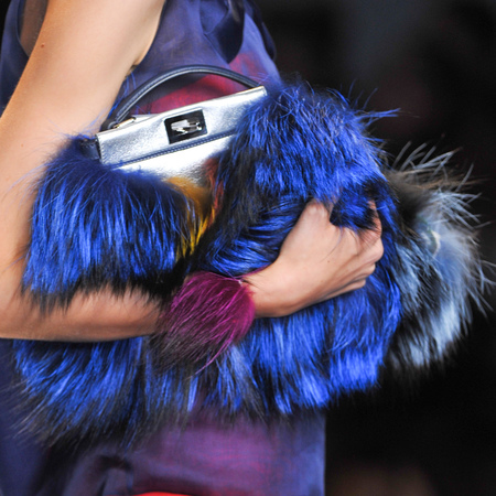 fendi furry monster bag - fluffy designer handbag for spring summer 2014 - quirky designer handbag - handbag.com