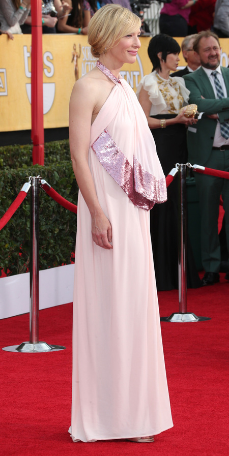 cate blanchette pink dress - sag awards 2014 - celebrity fashion trends - handbag.com