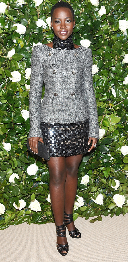 Lupita Nyong'o in metallic Chanel Couture