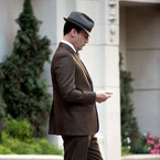 John Hamm in a suit! It's first look Mad Men