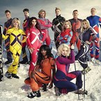 Amy Childs skiing off a mountain for TV?