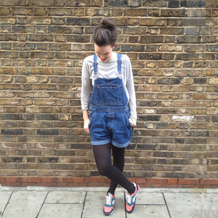 fashion trial - difficult trends - dungarees - hipster cool - trainers - menato - how to wear - handbag.com