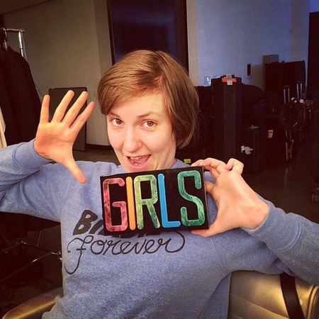 lena dunham - girls clutch bag - charlotte olympia designer handbags - handbag.com