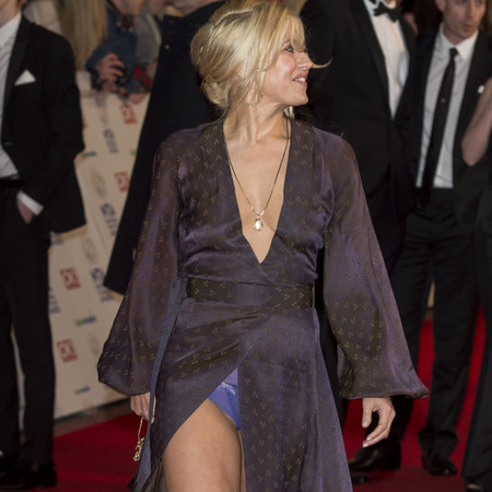 rachel wilde underwear - flashes in dress on red carpet - national television awards 2014 - handbag.com