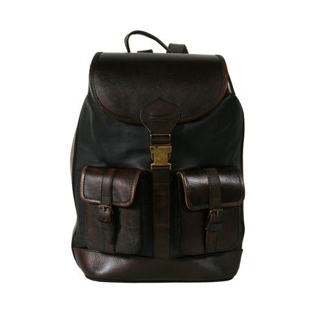 Santa-Cruz-Black-Clip-Front backpack - beara beara - ethical fashion handbags - handbag.com
