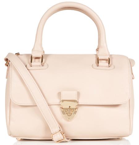 pale pink twist lock handbag - primark spring summer 2014 - highstreet handbag trends - handbag.com