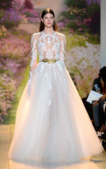 Designer wedding dress ideas from Couture fashion week - Zuhir Murah Prive Catwalk Show - Princess dress - Fashion and weddings - trends - handbag.com