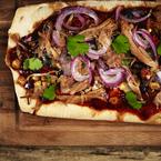 Heavenly BBQ pulled pork flatbread recipe