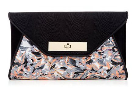 new handbag from high street - new look - navy snake print clutch bag - handbag.com