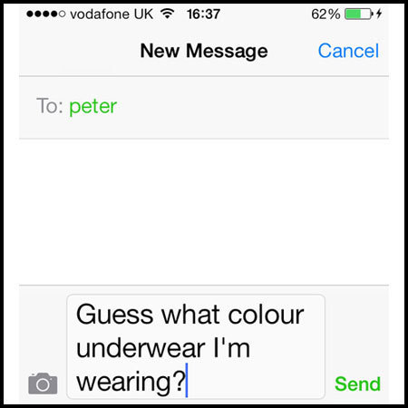Example of sexting on your mobile - evening bag - handbag.com