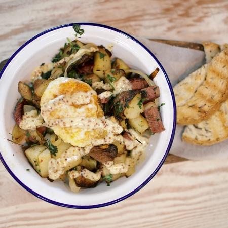 Good_Egg_restaurant review - salt beef hash - brunch meals - handbag.com