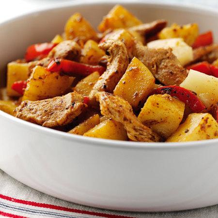 jamaican jerk chicken recipe with potato stir fry and pineapple - evening bag - handbagcom