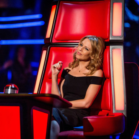 kylie minogue the voice uk - black dress - celebrity fashion trend - handbag.com