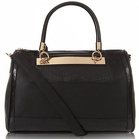 new handbag from high street - new look - black and gold bowler bag - handbag.com