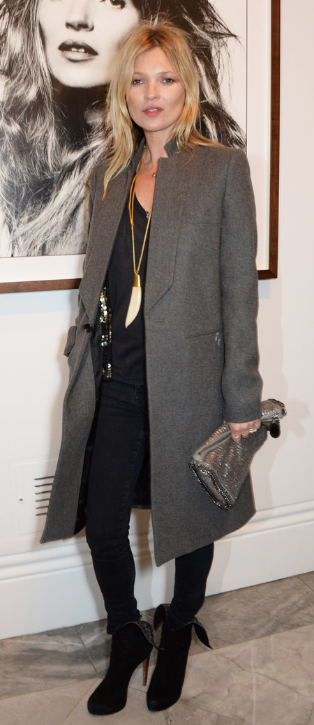 Kate Moss' metallic Stella McCartney clutch