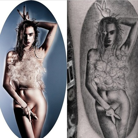 cara delevingne - miley cyrus - garage magazine - naked picture - instagram - handbag.com