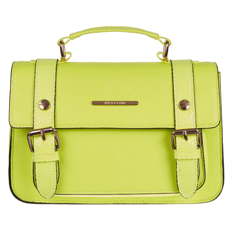 River Island - green satchel - Spring Summer high street handbags - handbag.com