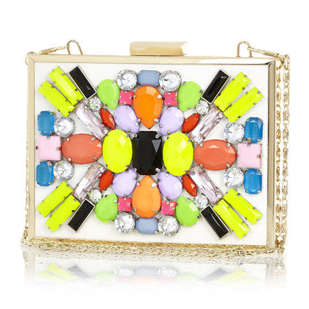 River Island - jewelled box clutch - Spring Summer high street handbags - handbag.com