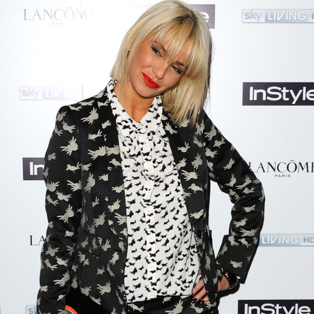 sarah harding same print blazer shirt and trousers - how to wear the same print all over - celebrity fashion trend - handbag.com