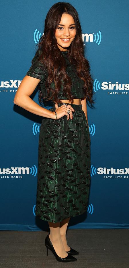 Vanessa Hudgens' Topshop crop top and skirt