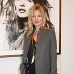 Kate Moss ditches the dress at David Bailey launch