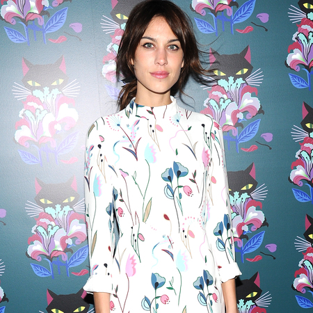 alexa chung wearing miu miu floral prints - celebrity fashion trend - handbag.com