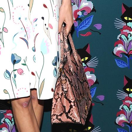 Alexa Chung's snakeskin Miu Miu bag