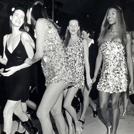 Christy Turlington, Kate Moss and Naomi Campbell - isaac mizrahi fashion week november 1993 - iconic models - handbag.com