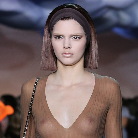 Kendall Jenner Marc Jacobs nipple flashing - shopping bag - handbag.com