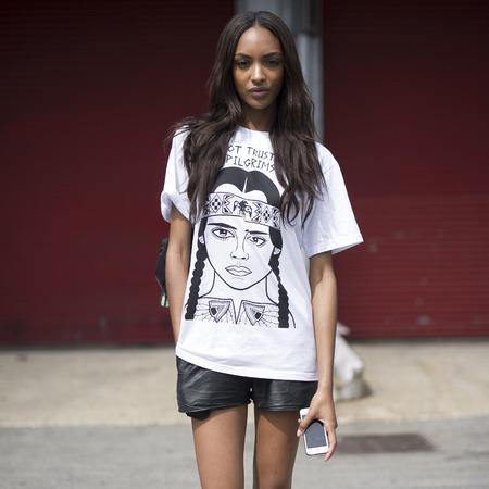 Models of duty - new york fashion week - Jourdan Dunn - handbag.com
