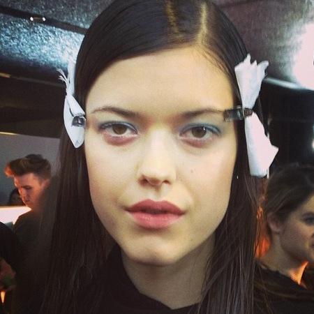 blue eye makeup trend - london fashion week autumn winter 2014 - michael van der ham show - handbag.com