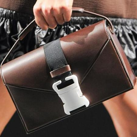 christopher kane - debut handag collection - london fashion week aw14 - brown bag with white buckle - handbag.com