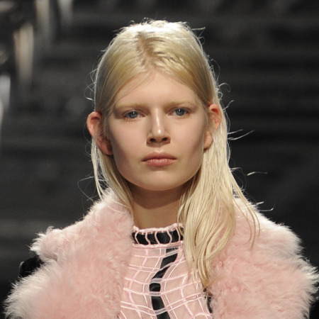 Christopher Kane at London Fashion Week AW14 - catwalk show - beauty trend - behind the ears - hairstyles - long hairstyles - beauty news - handbag.com