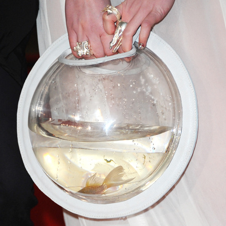 clean bandit grace chatto goldfish bowl handbag - brits 2014 red carpet - handbag.com