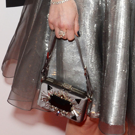 fearne cotton silver metallic dress - brits 2014 - celebrity red carpet dresses - handbag.com