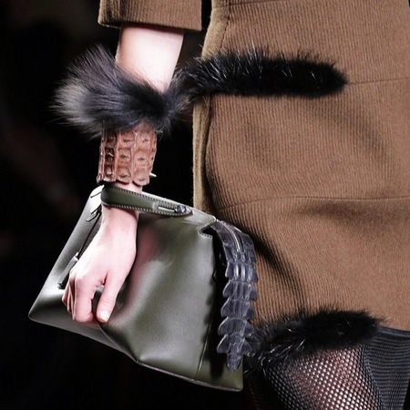 fendi by the way bag - milan fashion week aw14 - designer handbag trends - handbag.com
