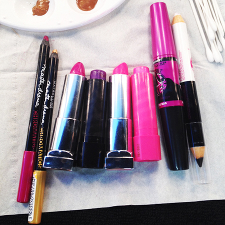 makeup products used backstage at london fashion week - pink maybelline chromatics eye pencil - how to do pink makeup trend - handbag.com
