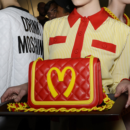 moschino macdonalds bag - milan fashion week autumn winter 2014 - jeremy scott designer - handbag.com