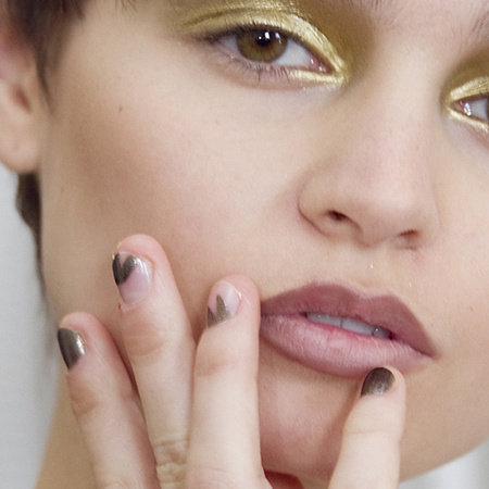 Orly nail art trend at Antipodium london fashion week - half painted nails - autumn winter beauty trends - handbag.com