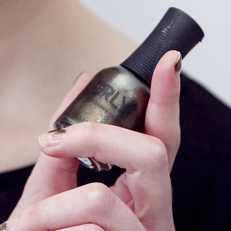 Orly nail polish used at Antipodium london fashion week aw14 - nail trends - handbag.com