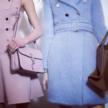 pink gucci stachel bag  - milan fashion week aw14 - designer handbag trends - handbag.com