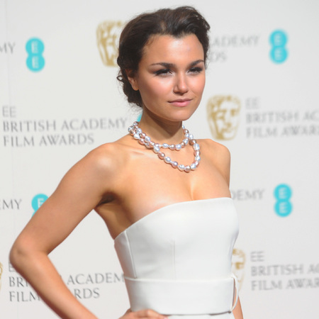 Samantha Barks at the BAFTAs - red carpet hairstyles - up do hairstyles - how to do hair - step by step hair - Charles Worthington - celeb beauty and hair - handbag.com
