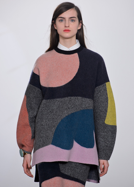 Issa - unstructured oversized shapes - lfw aw13 trends - handbag.com