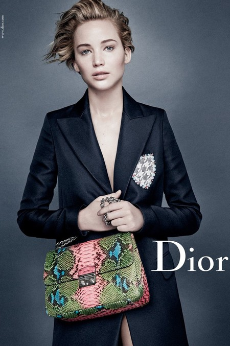jennifer lawrence new dior handbag campaign - green and pink bag - celebrity short hairstyle ideas - handbag.com