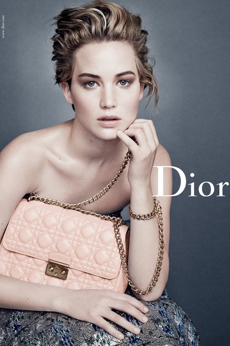 jennifer lawrence new dior handbag campaign - pink miss dior bag - celebrity short hairstyle ideas - handbag.com