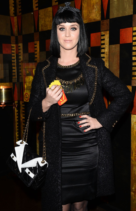 Katy Perry's Moschino bag and McDonalds phone case