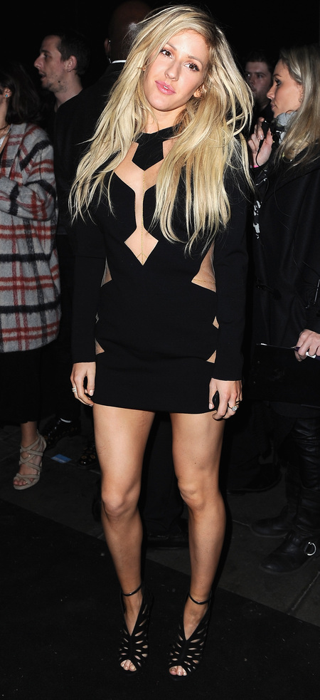 ellie goulding black dress - brits after party 2014 - celebrity fashion - handbag.com