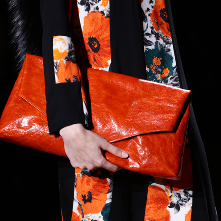 designer handbag trends a paris fashion week autumn winter 2014 - dries van noten red croc skin clutch bag - handbag.com
