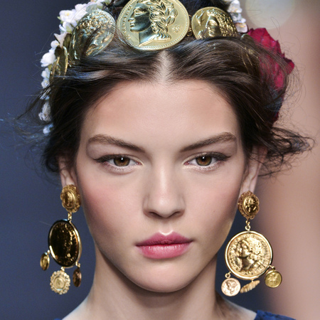 dolce and gabbana makeup look - spring summer 2014 - pretty makeup for wedding - handbag.com