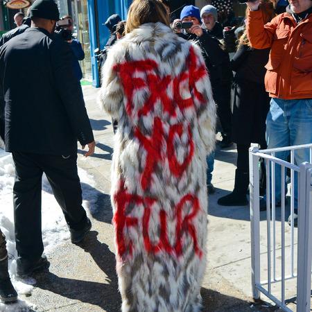 khloe kardashian fuck you fur coat - anti fur campaign - celebrity fake fur supporter - handbag.com